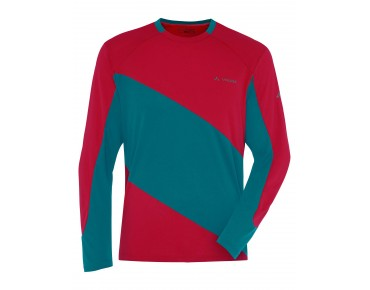 VAUDE MOAB LS Shirt indian red/green spinel