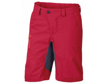VAUDE GRODY SHORTS IV kids' cycling shorts indian red
