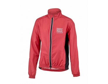 ROSE PRO FIBRE II kids' windbreaker red/black