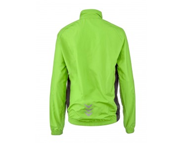 ROSE PRO FIBRE II kids' windbreaker fluo green/black