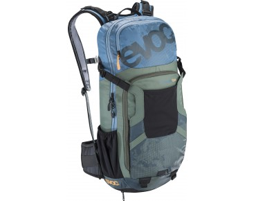 evoc FREERIDE ENDURO 16L backpack TEAM copen blue/olive/slate