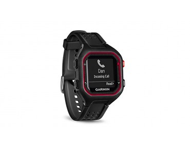 Garmin Forerunner 25 GPS watch bundle with heart rate chest strap schwarz/rot
