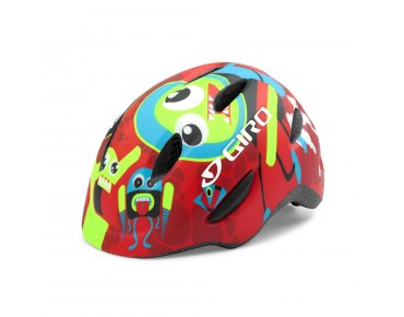 GIRO SCAMP kids' helmet matte red rocket buddies
