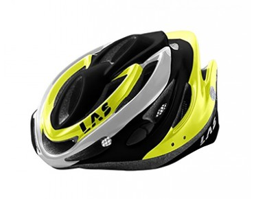 LAS KRIPTON road helmet black/flou lime/white