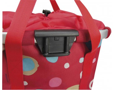 Reisenthel BIKEBASKET handlebar bag with KLICKfix mount funky dots II