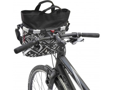 BIKEBASKET OVAL S handlebar bag with KLICKfix mount hopi