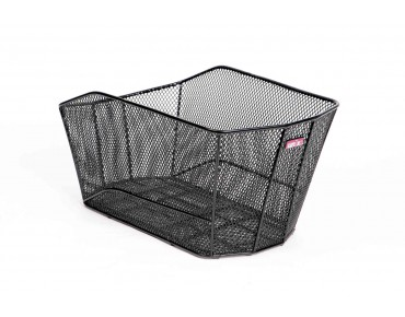 VALENTO rear bicycle basket for permanent installation schwarz