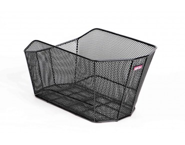 VERIO rear bicycle basket for permanent installation schwarz