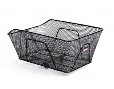 Unix RENARDO rear bicycle basket for permanent installation with Korbfix III black
