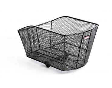Unix VENIZIO rear bicycle basket for permanent installation with Korbfix III black