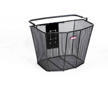 VICARIO front bicycle basket (compatible with KLICKfix) schwarz