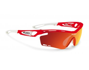 RUDY PROJECT TRALYX - occhiali red fluo gloss/multilaser orange