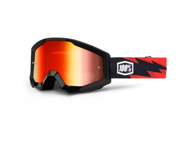 100% STRATA MIRROR goggles fire red/mirror red