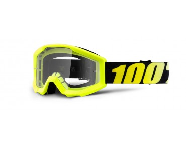 100% STRATA YOUTH kids' goggles neon yellow