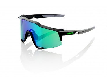100% SPEEDCRAFT STD glasses black/mirror green