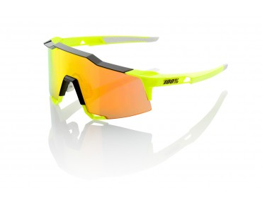 100% SPEEDCRAFT STD glasses neon yellow/mirror red