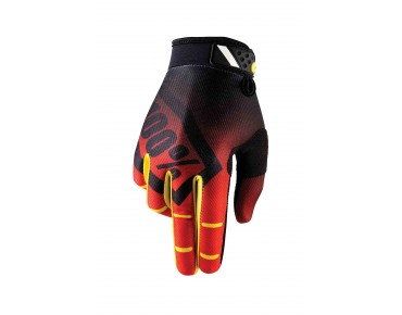 100% RIDEFIT gloves corpo red
