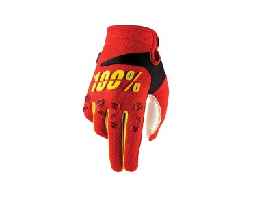 100% AIRMATIC gloves red
