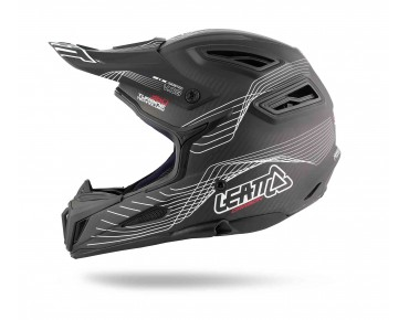 LEATT DBX 6.0 CARBON Vollvisierhelm carbon/white/red