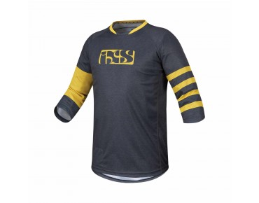 IXS VIBE 6.2 bike shirt ¾ sleeve graphite/yellow