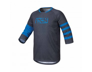IXS VIBE 6.2 bike shirt ¾ sleeve graphite/fluor blue