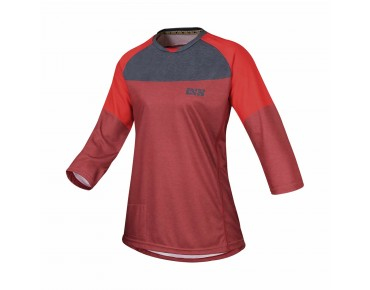 IXS VIBE 6.1 women's bike shirt ¾ sleeve night red