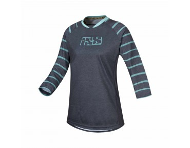 IXS VIBE 6.2 women's bike shirt ¾ sleeve graphite/turquoise