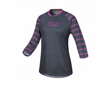 iXS VIBE 6.2 women's bike shirt ¾ sleeve graphite/purple