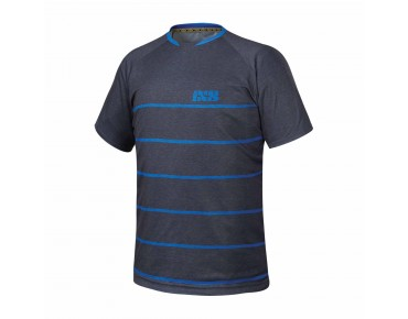 IXS PROGRESSIVE 6.2 bike shirt black/fluor blue