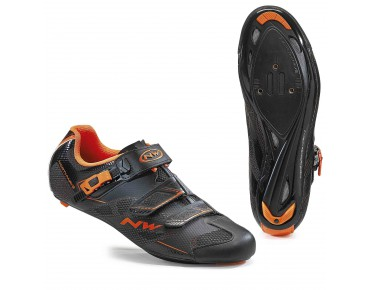 NORTHWAVE SONIC 2 SRS Rennradschuhe black/orange