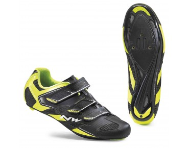 NORTHWAVE SONIC 2 road shoes black/yellow fluo