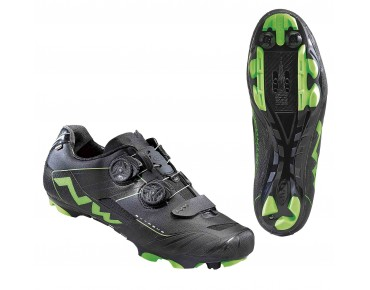NORTHWAVE EXTREME XCM MTB-Schuhe black/green fluo