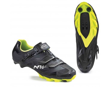 NORTHWAVE SCORPIUS 2 SRS MTB shoes black/yellow fluo