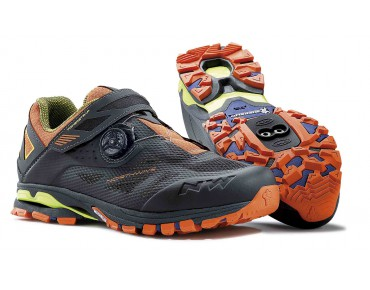 NORTHWAVE SPIDER PLUS 2 MTB/trekking shoes antra/black/orange