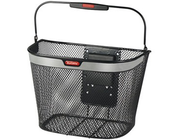 KLICKfix UNIKORB REFLECT front bicycle basket black