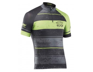 NORTHWAVE STRIPES Trikot black/green fluo