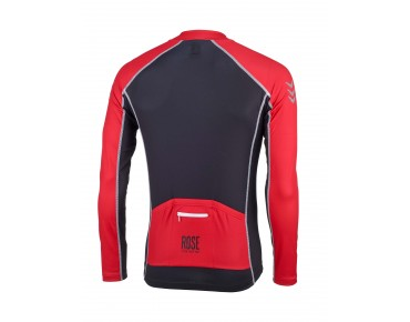 ROSE DESIGN IV Trikot langarm black/red