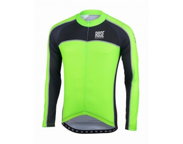 ROSE DESIGN IV long-sleeved jersey black/fluo green