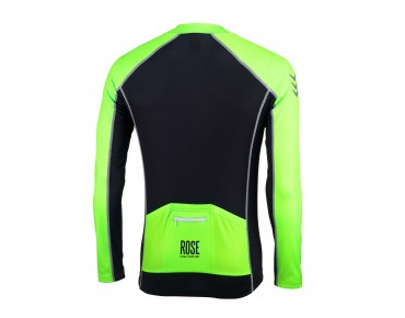 ROSE DESIGN IV Trikot langarm black/fluo green