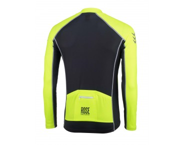 ROSE DESIGN IV Trikot langarm black/fluo yellow