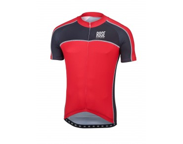 ROSE DESIGN IV Trikot kurzarm black/red