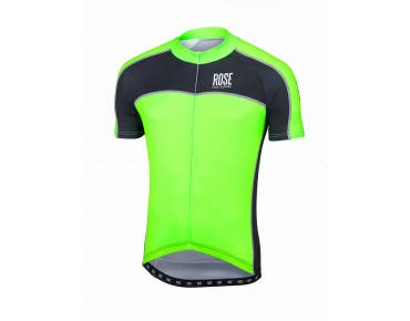 ROSE DESIGN IV short-sleeved jersey black/fluo green