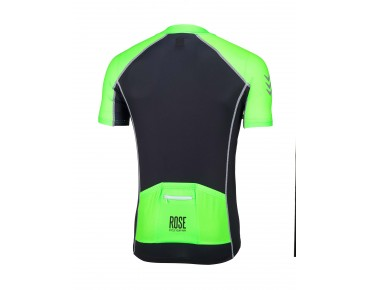 ROSE DESIGN IV Trikot kurzarm black/fluo green