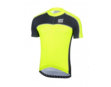 ROSE DESIGN IV short-sleeved jersey black/fluo yellow