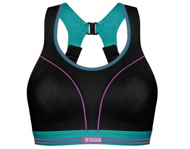 Shock Absorber RUN sports bra schwarz/petrol