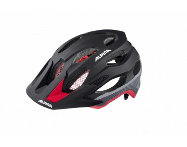 ALPINA CARAPAX MTB-Helm black/red/silver
