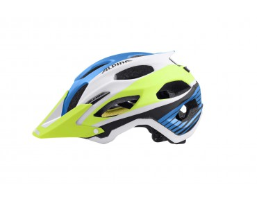ALPINA CARAPAX MTB-helm blue/white/yellow