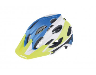 ALPINA CARAPAX MTB helmet blue/white/yellow