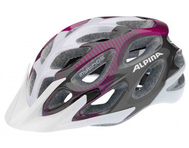 ALPINA MYTHOS MTB-helm white/purple/titanium