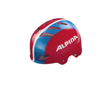 ALPINA PARK JR. kids' helmet red/blue/white